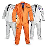 Sanabul NASA BJJ Jiu Jitsu Gi (See Special Sizing Guide) (Orange/Black, A1)