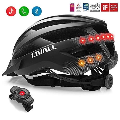 LIVALL MT1 Smart Bike Helmet,Wireless Turn Signals Tail Lights, SOS Alert, Built-in Mic, Bluetooth Speakers, Safe & Comfortable,Cycling Mountain Bluetooth Helmet