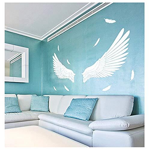 Vitila Wandaufkleber Moderne Minimalistische Persönlichkeit Aufkleber Engel Flügel Selbstklebende Plakate Pvc Abnehmbare Tapete