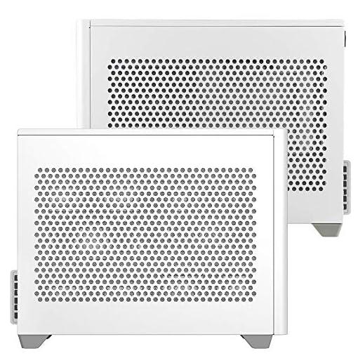 Cooler Master NR200 Caja Mini-ITX de Factor de Forma pequeño SFF Blanco con Panel ventilado, GPU de Triple Ranura, sin… 7