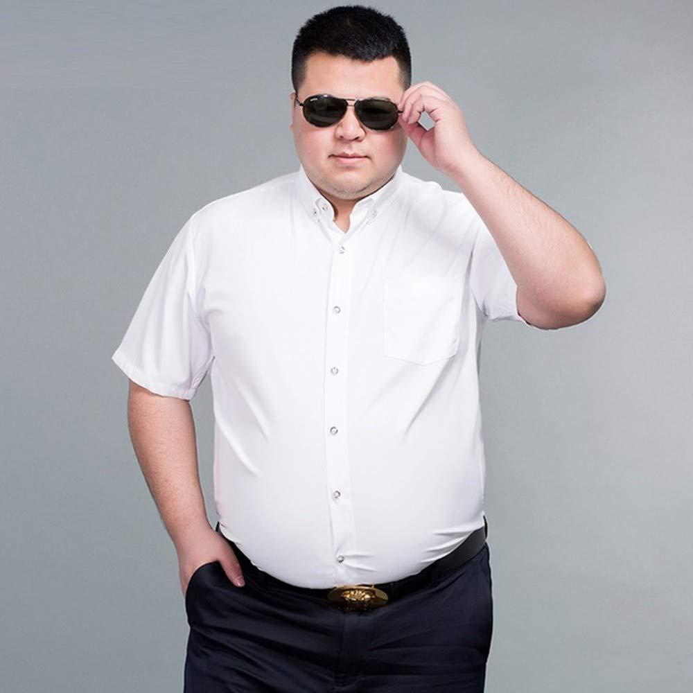 NSSY Camisa de Hombre Hombres, Camisas de Gran tamaño, Grandes y púrpuras, Manga Corta, Camisas de Vestir de Verano, Boda, 4XL: Amazon.es: Hogar