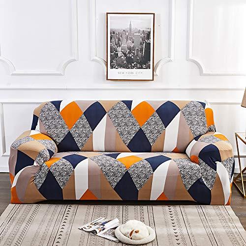 ChicSoleil - Funda para sofá de 1/2/3/4 plazas, elástica, con patrón moderno, funda ajustable para sofá, sofá, sillón, Nº 9, 2 Sitzer