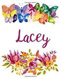 Lacey: Flower Notebook Writing Journal for Girls,Personalized With Name,  Personalized Writing Journal,Notebook for Women and Girls, Personalized Notebook/Journal Gift