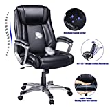 VANSPACE High Back Executive Office Chair Big Ergonomic Computer Desk Chair Bonded Leather Chair Adjustable Swivel Executive Chair - Thick Padding Armrest and Headrest for Comfort