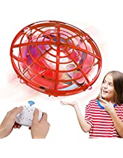 Innoo Tech UFO Drones for Kids with Gamepad Remote Control, Hand-Controlled Drone With 5 Infrared Sensors 360°Rotating and Flashing LED Lights Kids Flying Toys for Kids, Boys, Girls (Red)