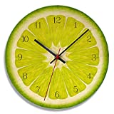 AMGSWAZ Wall Clock Silent Non-Ticking Quality Battery Operated Round Easy to Read Decorative for Home Office School 28cm