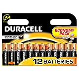 Batteries AA Duracell / Battery Pack of 12 / Simply LR6/MN1500 Economy for Radios, Remotes, Clocks Etc