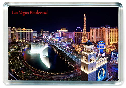 J404 Las Vegas Boulevard Jumbo Calamita da Frigo US Stati Uniti - American Travel Fridge Magnet USA