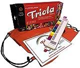 TRIOLA 12 Kompakt-Set mit Tasche für Instrument und Noten: die beliebte Blasharmonika mit farbigen Tasten für Kinder im Set mit dem Triola-Liederbuch MUSIK...