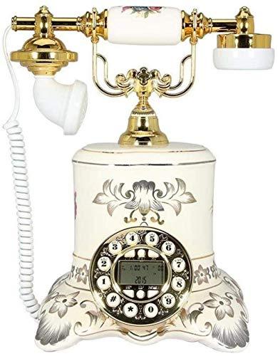 LDDZB Teléfono Europeo Teléfono Antiguo Teléfono Retro Teléfono de cerámica Teléfono fijo Hogar Creativo Antiguo Retro Teléfono