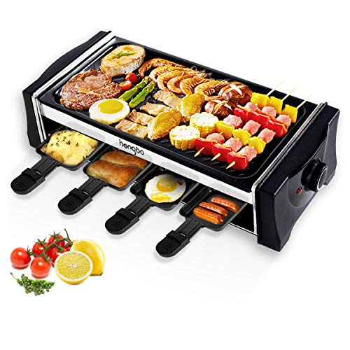 Hengbo House Kitchen Electric Smokeless Indoor Grill and Outdoor Electric Grills, Non-Stick Barbecue...