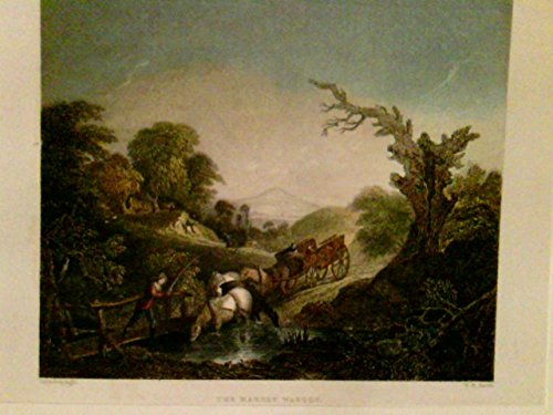 The Market Waggon, Ansicht eines Marktwagens, dessen Führer die Pferde zur Tränke führt,