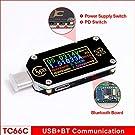 JJ.Accessory USB Digital Power Meter Tester Multimeter,USB voltmeter Tester with Color LCD Display,Muti-function USB Type-C Voltmeter Current Tester