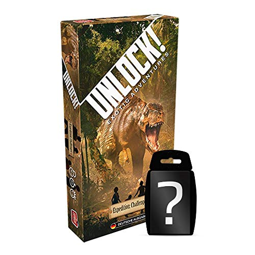 Unlock! - Expedition Challenger - Brettspiel | Einzelszenario | DEUTSCH | Ratespiel | Set inkl. Kartenspiel