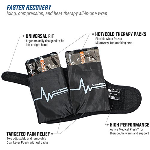 ActiveWrap Hand & Wrist Ice Pack Wrap with Reusable Hot & Cold Packs