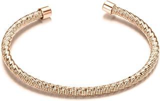 هوميلافي أساور للنساء مفتوحة الفولاذ المقاوم للصدأ كابل الإسورة سحر الكفة الإسورة أزياء مجوهرات للبنات الرجال الأولاد