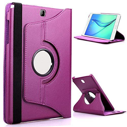 Custodia in pelle PU per Samsung Galaxy Tab 8.4 S Cover per SM-T700 SM-T705 SM-T705C Tablet da 8,4 pollici Custodia girevole a 360 gradi-Viola