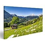 bilderfelix® Bild auf Leinwand schöne Berglandschaft in