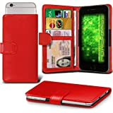 Fone-Case (Red) Archos 50f Helium Case Clamp Style Wallet