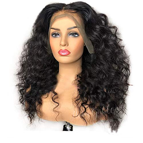 """Human Hair Wigs for Black Women with Baby Hair Glueless Full Lace Wig 10A Brazilian Virgin Human Hair Wigs Body Wave Full Lace Wigs Pre Plucked Curly Small Cap 14""""180% Natural Color"""