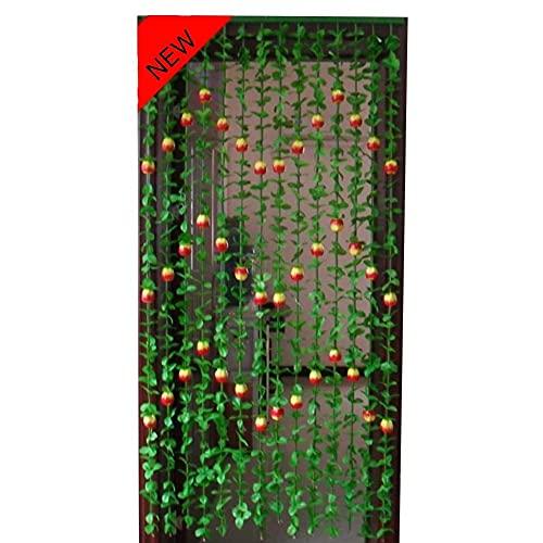 DSDD Cortinas con Cuentas Cortina de Cuentas para Puertas/armarios Separadores de Habitaciones Simulación Plástico Verde Entrada de la casa Partición Decoración Estilo de Granja, 90x180cm (Tama