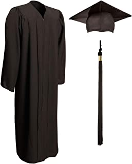 graduation cap and gown and tassel