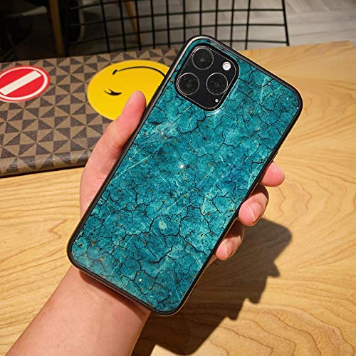 FQSCX Funda para iPhone Bling Glitter Gold Foil Marble Funda de Silicona Suave TPU para iPhone 5 SE 6 6s 7 8 Plus X 10 11 12 Mini Pro XS XR MAX Coque ForiPhone6Plus Verde