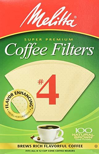 Melitta Filtros de café cónico, marrón natural #4, 300 unidades (paquete de 3)