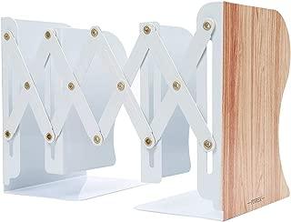 【PINREK】本立て ブックスタンド ブックエンド 仕切りスタンド 自由伸縮 折り畳み 金属製 卓上収納 ファイル/雑誌/新聞/CD/辞書/書類入り 事務用品 文房具 おしゃれ 多機能 耐久 使用便利 木目柄