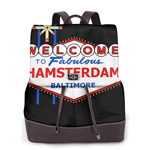 Viva Hamsterdam The Wire Las Vegas Women's Bapack, College Girl School Bag, Ladies Travel Bapack, Ladies Leather Bapackck