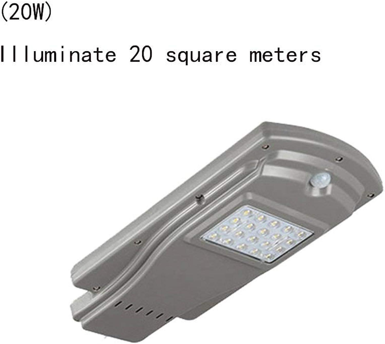 MGMDIAN 60W wasserdichtes Solar-Gartenlicht im Freien, hohe Pfostenstraenlaterne für Zuhause (watt   20w)