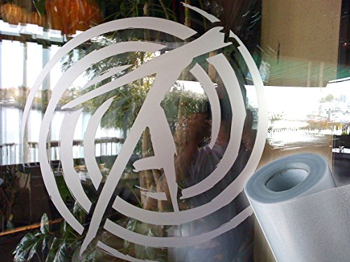 Frosted Matte Etched Adhesive Craft Window Vinyl Roll for Cricut, Silhouette and Cameo (12' x 48', Frosted White)