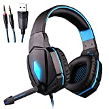 ZDZHU Gaming Headset for Xbox One PS4 PC - Surround Sound Over-Ear Headphones with 50mm Driver Unit,Noise Cancelling Mic, for Laptop/Mac/Nintendo Switch Game