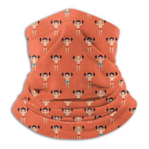 XCVD Comfort Weight Lifting Bodybuilder Multifunktionaler Mikrofaser-Halswärmer, Sport-Gesichtsschutz, winddichter, staubdichter Mund Gesichtsmaske Magischer Schal Halswärmer Kopfwickelschals Ges