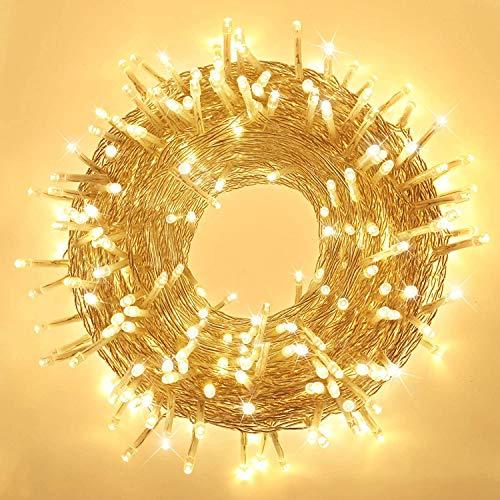 Elegear Luci Natale Esterno 100M 500 LEDs Impermeabile...