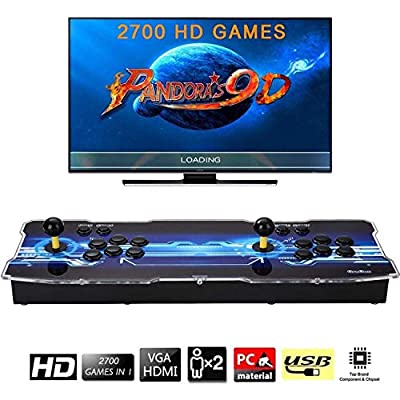 [2700 HD Retro Games] Pandoras Box 9D Arcade Video Game Console 720P Game System with 2700 Games Supports PC TV 2 Players by TanDer