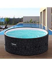 Arebos Whirlpool Bora Bora | Opblaasbaar | In- & Outdoor | 7 personen | Drop-Stitch | 130 massagejets | met verwarming | 1120 liter | Incl. afdekking | Bubble Spa & Wellness Massage