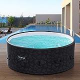 Arebos Whirlpool Bora Bora | Jacuzzi hinchable | para interior y exterior | 7 personas | con calefacción | 1120 litros | incluye cubierta | Bubble Spa y...