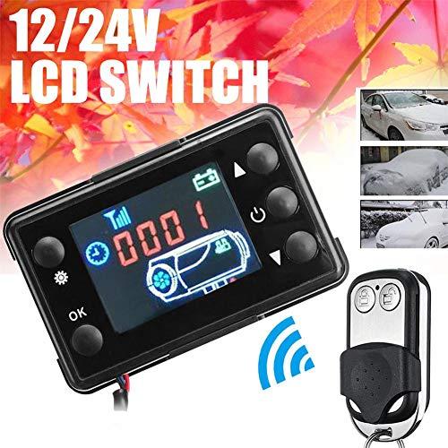 Lâ Vestmon 12V / 24V Auto GM Klimaanlage thermostatische Standheizung LCD Display Schalter mit Fernbedienung