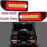 AniFM 2 Piezas Luces traseras Luces traseras para Suzuki Jimny LED 2018 2019 2020 lámpara de señal lámpara giratoria Faros antiniebla Accesorios para automóviles