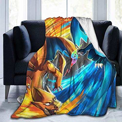 LinsSone Pokemon Pikachu Blanket Flannel Summer Air Conditioner Super Soft Plush Fleece Throw Blanket Home Bed Sofa.