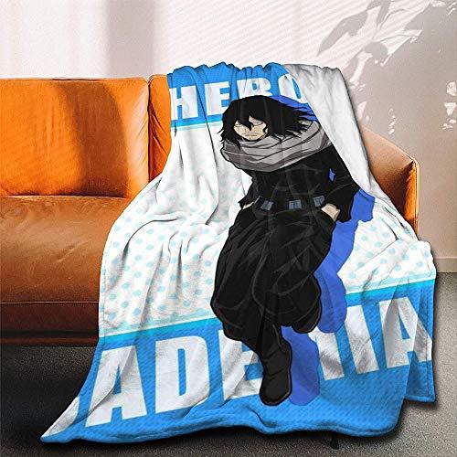 SDFDSSR Anime My Hero Academia Impresión 3D Franela Manta Edredón Suave Y Cómodo Dormitorio Sofá Sofá Aire Acondicionado Habitación Carruaje Bebé Baño Cuatro Seasons Pequeño Tamaño 50'X40