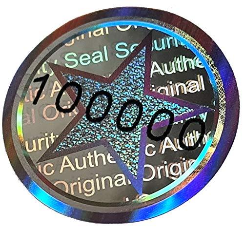 440 Stk - 3D Hologramm-Siegel 20mm silber glänzend - Sicherheitssiegel, Qualitätssiegel, Garantiesiegel, Sicherheitsetiketten, Etikett selbstklebend, Antifake Sticker Security Label Aufkleber