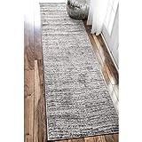 nuLOOM Sherill Ripple Modern Abstract Runner Rug, 2' 5' x 9' 5', Gray