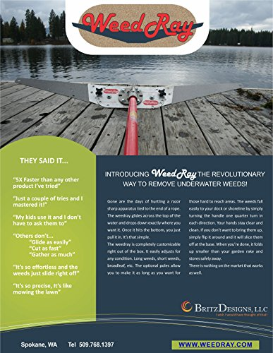 Great Features Of Weed Ray 1 Extension Pole Option, 6 feet - The Best Lake Weed Removal Tool