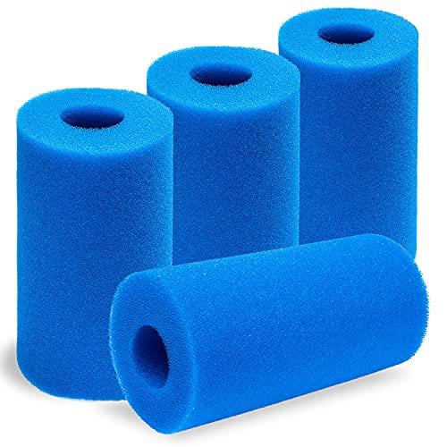 Esponja para Filtro de Piscina para Intex A, Filtro de Cartucho de Esponja, Filtros de Piscina de Espuma, Esponja de Filtro de Piscina para Piscina Jacuzzi, Reutilizable, Lavable