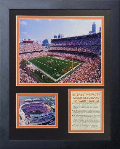 "Legends Never Die Cleveland Browns Stadium- The Dawg Pound Collectible | Framed Photo Collage Wall Art Decor - 12""x15"""