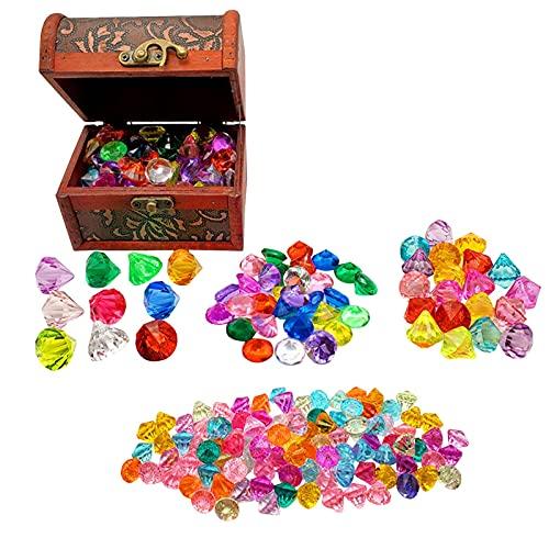 Mini cofres del tesoro pirata vintage caja de joyería para favores decoración de fiestas piratas joyas juego pirata tesoro caja de juguetes tesoro para fiesta pirata