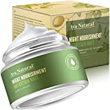 Naturkosmetik Gesichtscreme Vegan Nachtcreme Face Moisturizer - Gesicht Feuchtigkeitscreme Anti Aging Gesichtspflege Faltencreme für trockene Haut (Neues Design)
