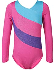 TFJH E Gymnastics Leotards for Girls Sparkle Athletic Clothes Activewear One-piece